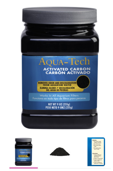 Lot of 7 Aqua Tech ACTIVATED CARBON WORKS WITH ALL AQUARIUM WATER FILTERS $75.00