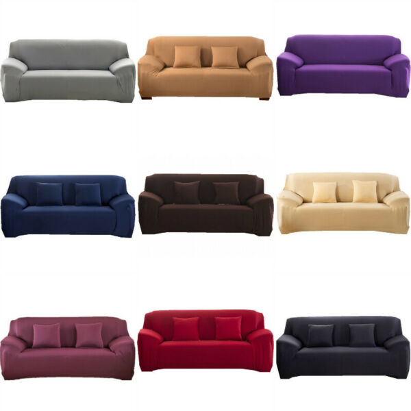 1234 Seater Sofa Covers 3 Seater Stretch Slipcover Couch Sofa Cover Elastic
