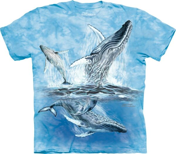 The Mountain Kids Cotton Blue Find 11 Whales Tails T Shirt Youth Tee S amp; XL NWT $10.99