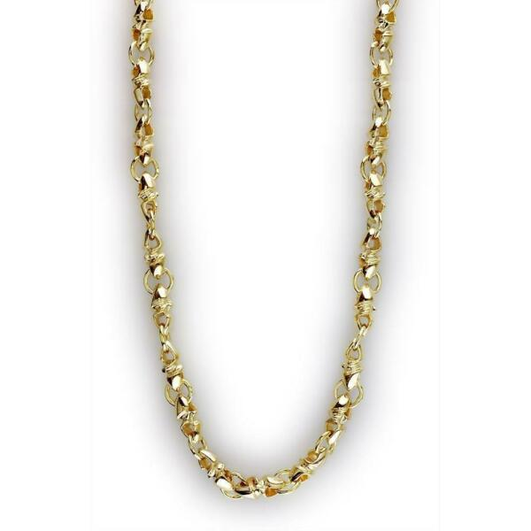 Mens Twisted Bullet Link Chain in 14K Smallest Links