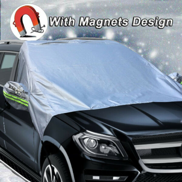Big Ant Windshield Snow Cover Mirror Covers 100% Waterproof Snow Ice Protector