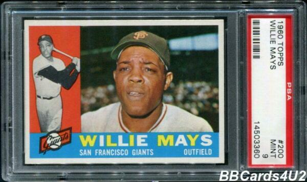 1960 Topps #200 WILLIE MAYS HOF! PSA 9 MINT Giants