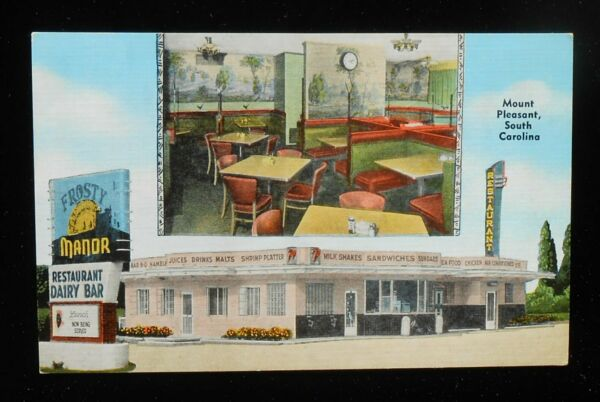 1940s Interior Frosty Manor Restaurant Dairy Bar Hiway 17 7up Mount