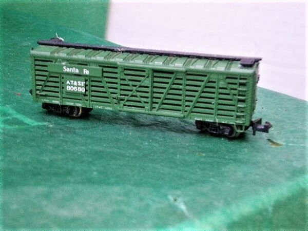 N Scale Trix(Austria) Santa Fe 80680 Green Stock Car mytr048 Perfect!