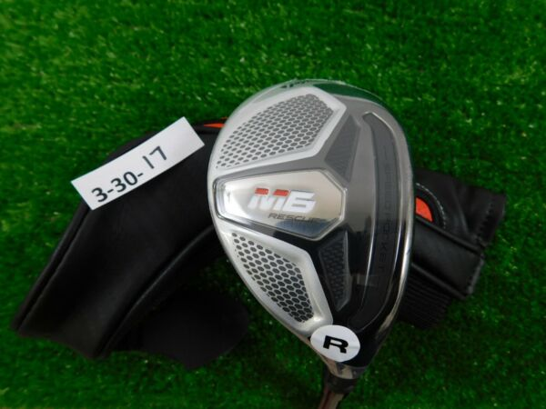 TaylorMade 2019 M6 19* 3 Hybrid Rescue Atmos 6R Regular Graphite with HC New