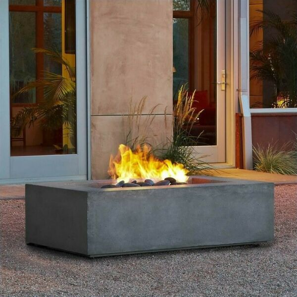 Real Flame Baltic Natural Gas Fire Table in Glacier Gray