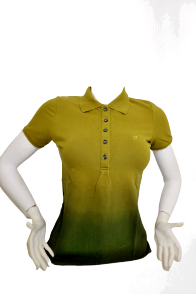 New Authentic Burberry Women's Nova Check Short Sleeve Green Polo Shirt Small $84.90