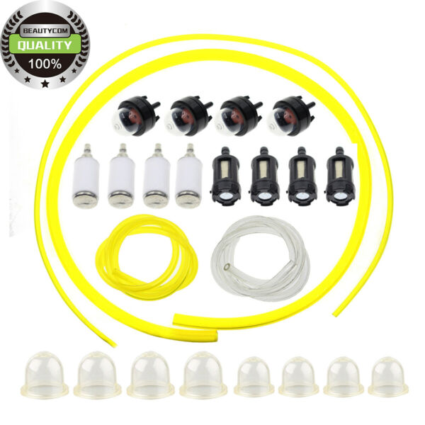 Fuel Filter Line Primer Bulbs(4 Size)Kit For Poulan Zama Echo Weedeater ChainSaw