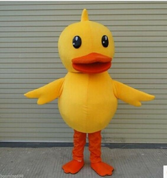 Halloween Yellow Duck Mascot Costume Cartoon Animal Cosplay Adult Fancy Dress us