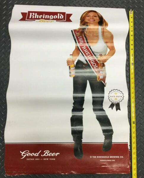 32x24 RHEINGOLD LAGER BEER Women Poster Ad Display Sign