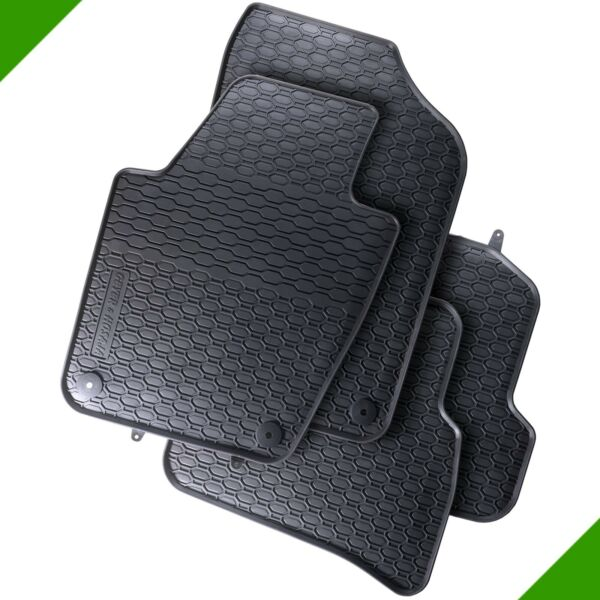 VW Polo 6R Premium Car Foot Mat Rubber Mat Black 0
