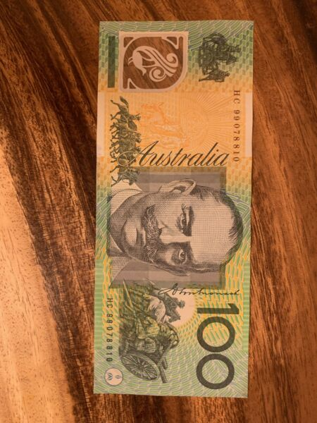 Australia $100 Dollars Banknote Good Condition, Australian 100 Note Cir Dt