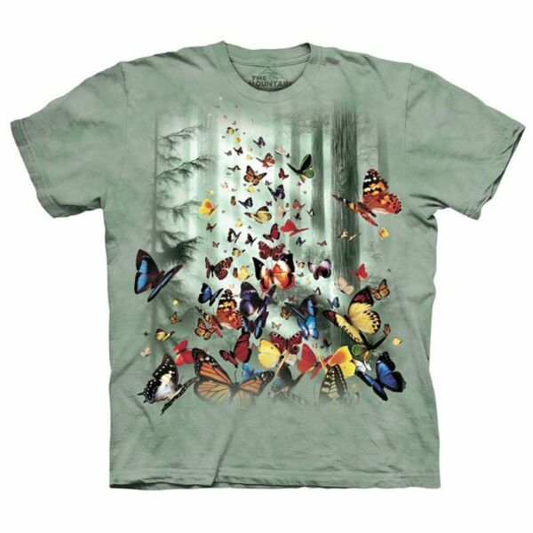 Butterfly The Mountain Kids 100% Cotton T Shirt Youth Size XL NWT $13.60