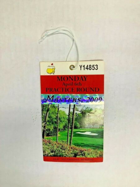 2009  MASTERS GOLF TOURNAMENT TICKET - WON BY ANGEL CABRERA - NICE CONDITION