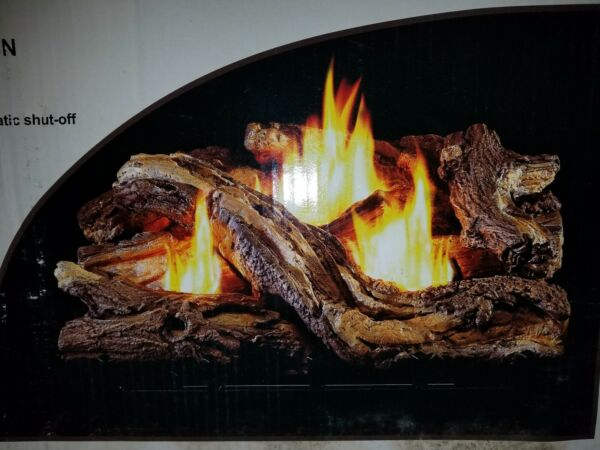 Vent Free Dual Fuel Fireplace Logs Insert 24 inch Natural Gas or Propane