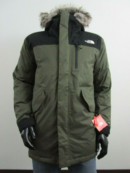 Mens TNF The North Face Bedford Down Parka Warm Insulated Winter Jacket - Green