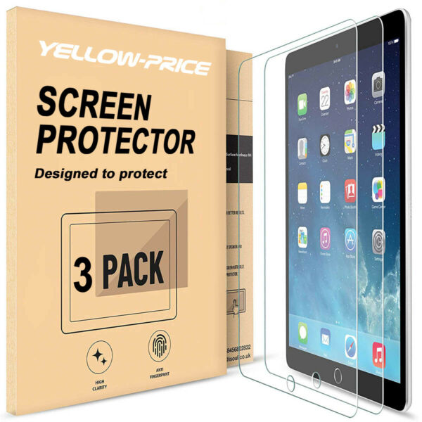 [Fit For iPad 7th Gen 2019] [3Pcs] Screen Protector Films Case&Pencil Friendly
