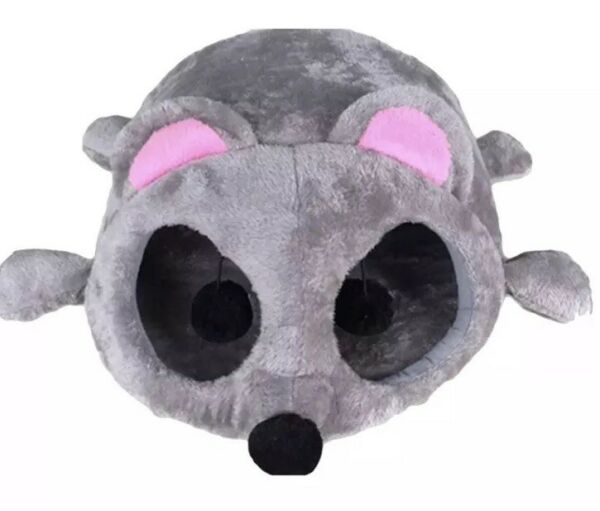 Cat Cave Bed Gray Mouse Shape Hide Tunnel Toy NEST Soft Cushion Small Dog House