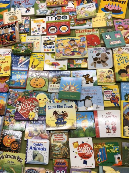 Lot of 10 Board Books for Young Children Toddlers Babies Preschool And Daycare