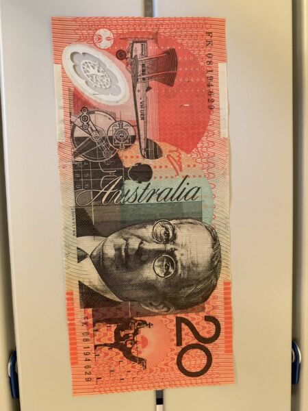 Australia 20 Dollars Polymer Bank Note, Banknote Good Condition, Australian