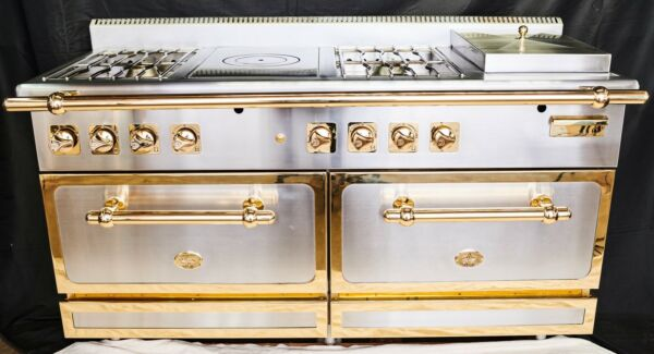 Diva De Provence 65 Inch Hand Crafted Gold Trimmed Stove A French Luxury Range