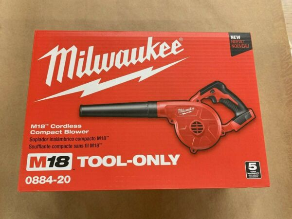 New Milwaukee M18 Compact Blower TOOL ONLY No Battery No Charger 3 Speed Switch