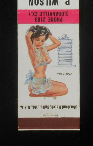 1950s Sexy PinUp P. Wilson Meckley A-G Store Phone 2190 Seven Valleys PA York Co