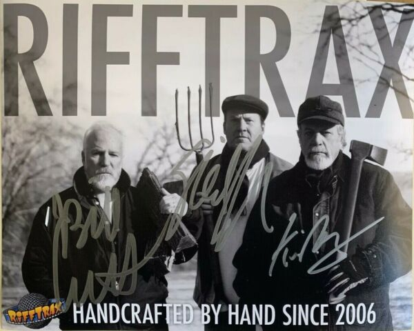Rifftrax- Autographed Photo by Mike Kevin & Bill! HANDCRAFTED Version