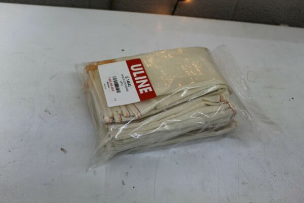 100 Count Uline Cloth Drawstring Burlap Bags Pouch Sack 5x8 S 14843
