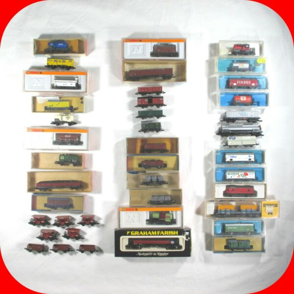 N Scale EUROPEAN-GERMAN CAR Variety lot -ArnoldAtlasTrix -WagonBoxTank  RARE