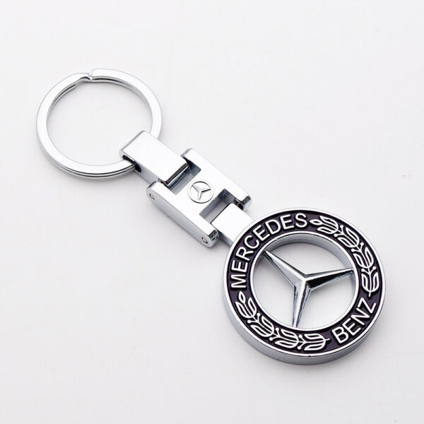 3D Mercedes-Benz AMG Sport Logo Alloy Car Home Keychain Ring Decoration Gift