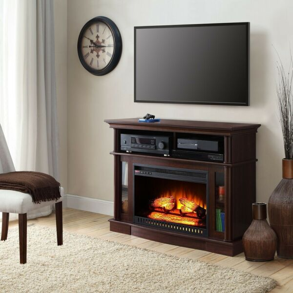 Electric Fireplace TV Stand Media Table Entertainment Center Living Room Heater