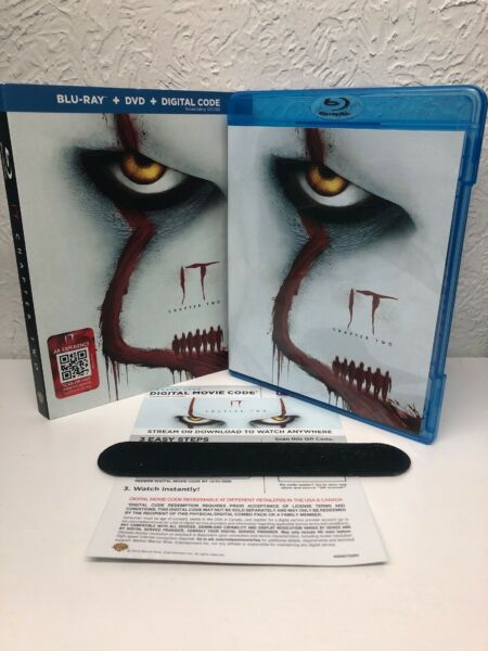 IT CHAPTER 2 Blu Ray + Digital HD (NO DVD INCLUDED) BEWARE OF FAKES BLU RAYS