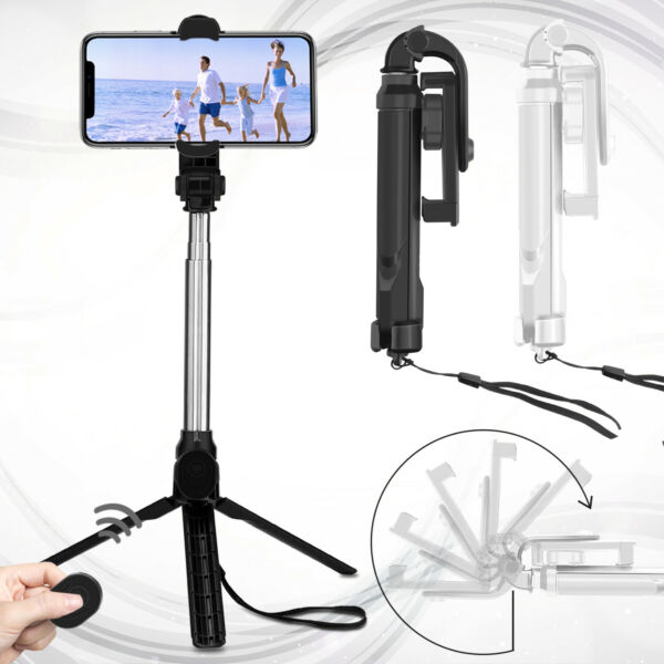 Extendable Wireless Remote Selfie Stick Tripod Holder Mount For iPhone Samsung