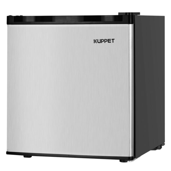 Compact Mini Freezer Upright Fridge  Small Refrigerator Stainless Steel 1.1 CuFt
