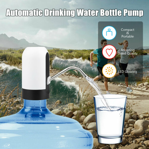 USB Water Bottle Pump Dispenser Automatic for 5 Gallon Universal Electric Switch $13.48