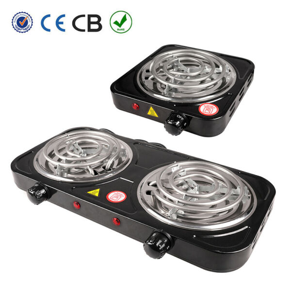 Portable Electric Double Single Burner Hot Plate Stove Travel Cook Countertop
