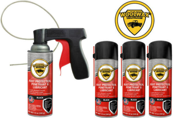 Woolwax® Spray Can Undercoating Kit. BLACK.  4 cans