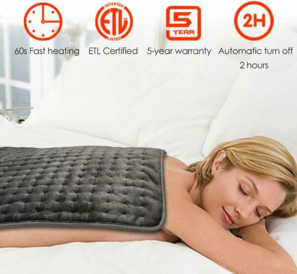 Hodiax Electric Heating Pad XXXL Ultra Wide Microplush For Shoulder Neck Feet