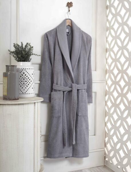 HAVLULAND 100% Turkish Cotton Terry Cloth Medium Size Bathrobe