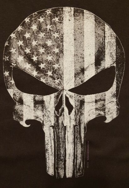 ALL AMERICAN OUTFITTERS SKULL WITH AMERICA FLAG SHIRT