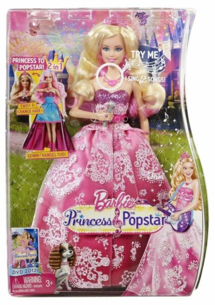 Barbie THE PRINCESS & THE POPSTAR 2-in-1 Transforming Tori Doll with sounds