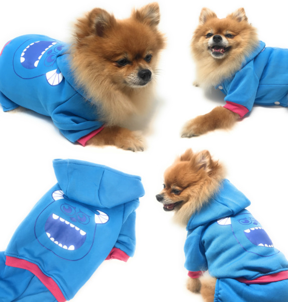 Cute Dog Clothes Jumpsuit Warm Winter Puppy Cat Coat Costume Pet Clothing Outfit $7.99