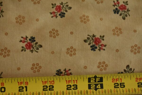 By 1 2 Yd Red Tan Quilting Moda Collections for Cause Traditions 46018 M8488
