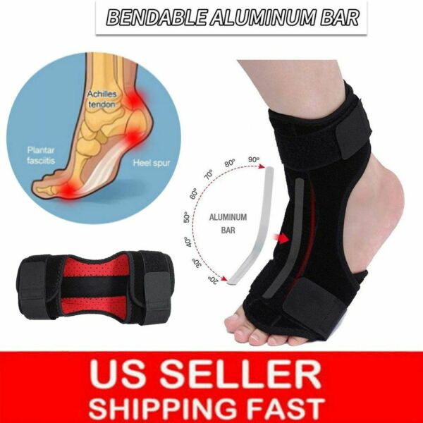 Foot Drop Support Ankle Brace Orthosis Plantar Fasciitis Night Splint Correction