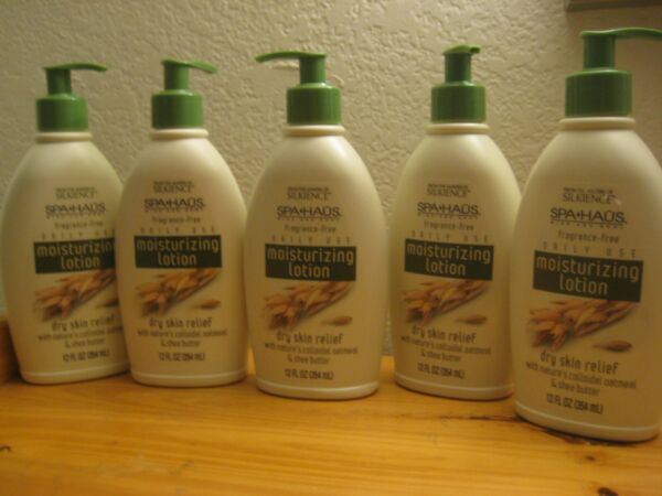 Lot of 5 Spa Haus Fragrance Free Moisturizing Lotion Dry Skin Relief Oatmeal &