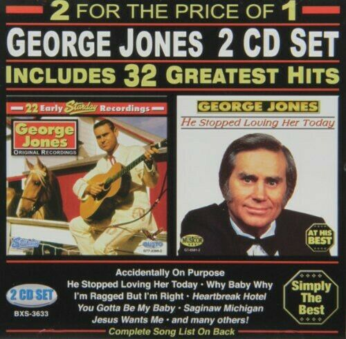 George Jones 32 Greatest Hits New CD