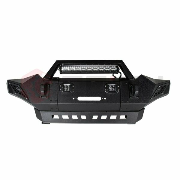 Steel front Bumper Assembly For 2005-2015 Toyota Tacoma bright led lights