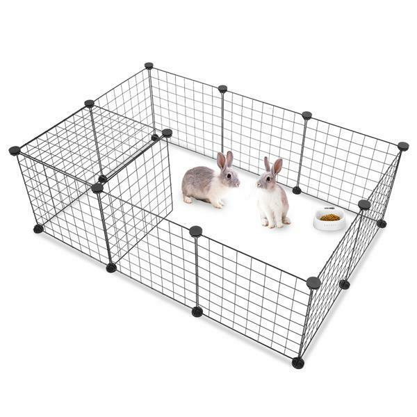 12 Panels Tall DogRabbit Playpen Large Crate Fence Pet Play Pen Exercise Cage