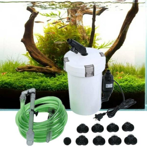 Aquarium Fish Tank External Canister Filter Outside Table Top Pre Filter HW 603B $35.49
